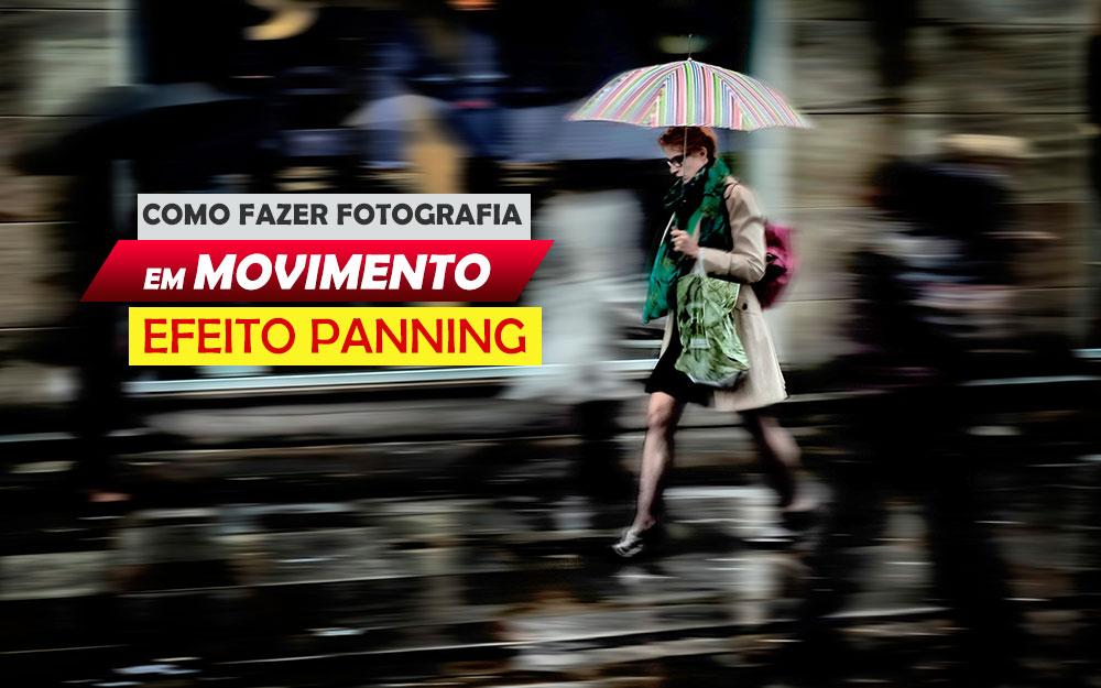 Como fazer fotografia em movimento efeito Panning